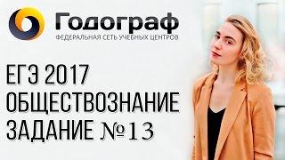 ЕГЭ по обществознанию 2017. Задание №13.