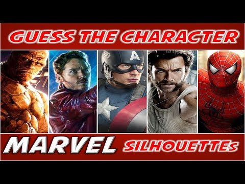 """Guess the Character """"MARVEL"""" (By Silhouette) 