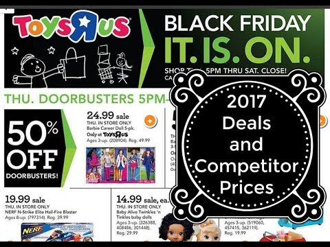 Toys R Us Black Friday 2017 + Competitor Prices