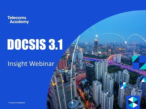 DOCSIS 3.1 Insight Webinar (Sept 2016)