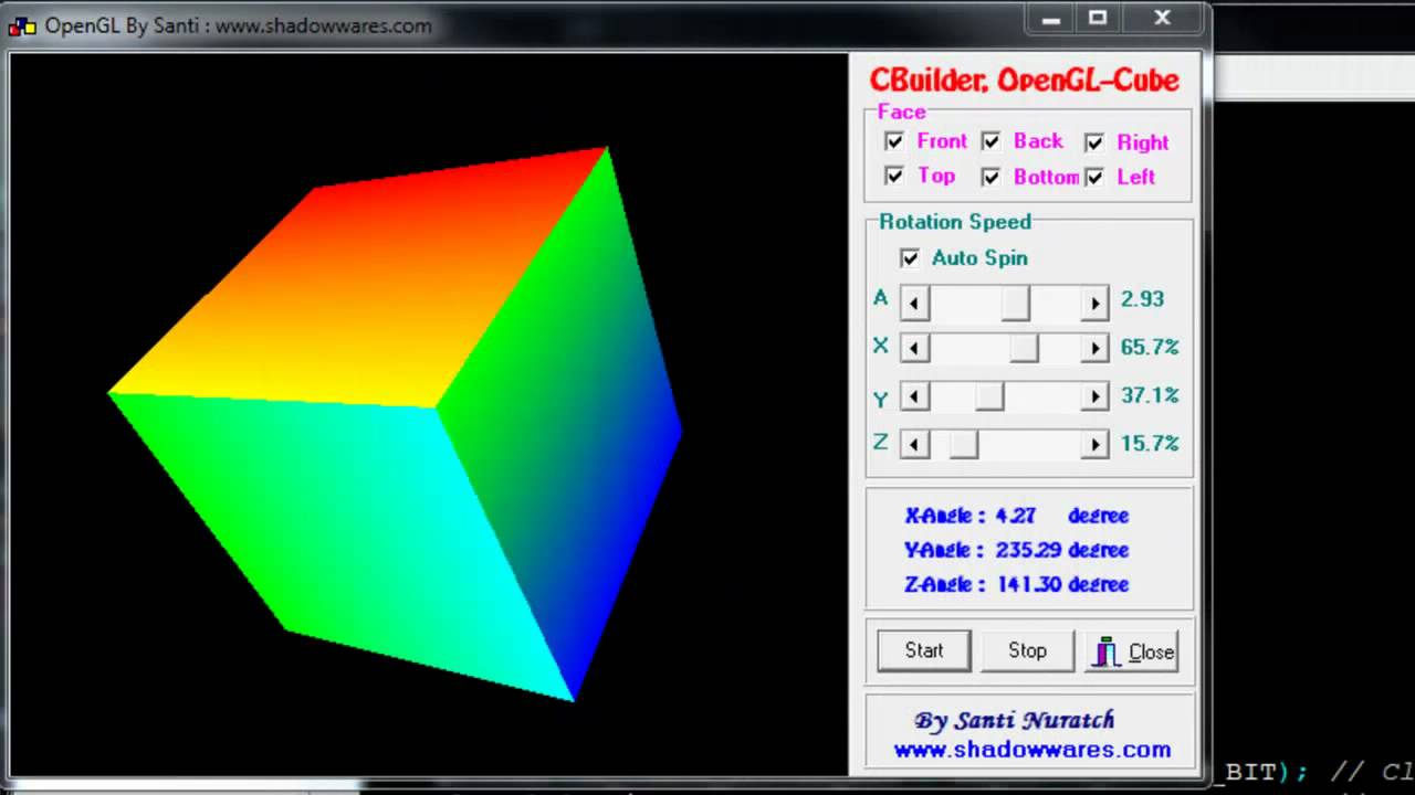 OpenGL: Color-Cube Animation