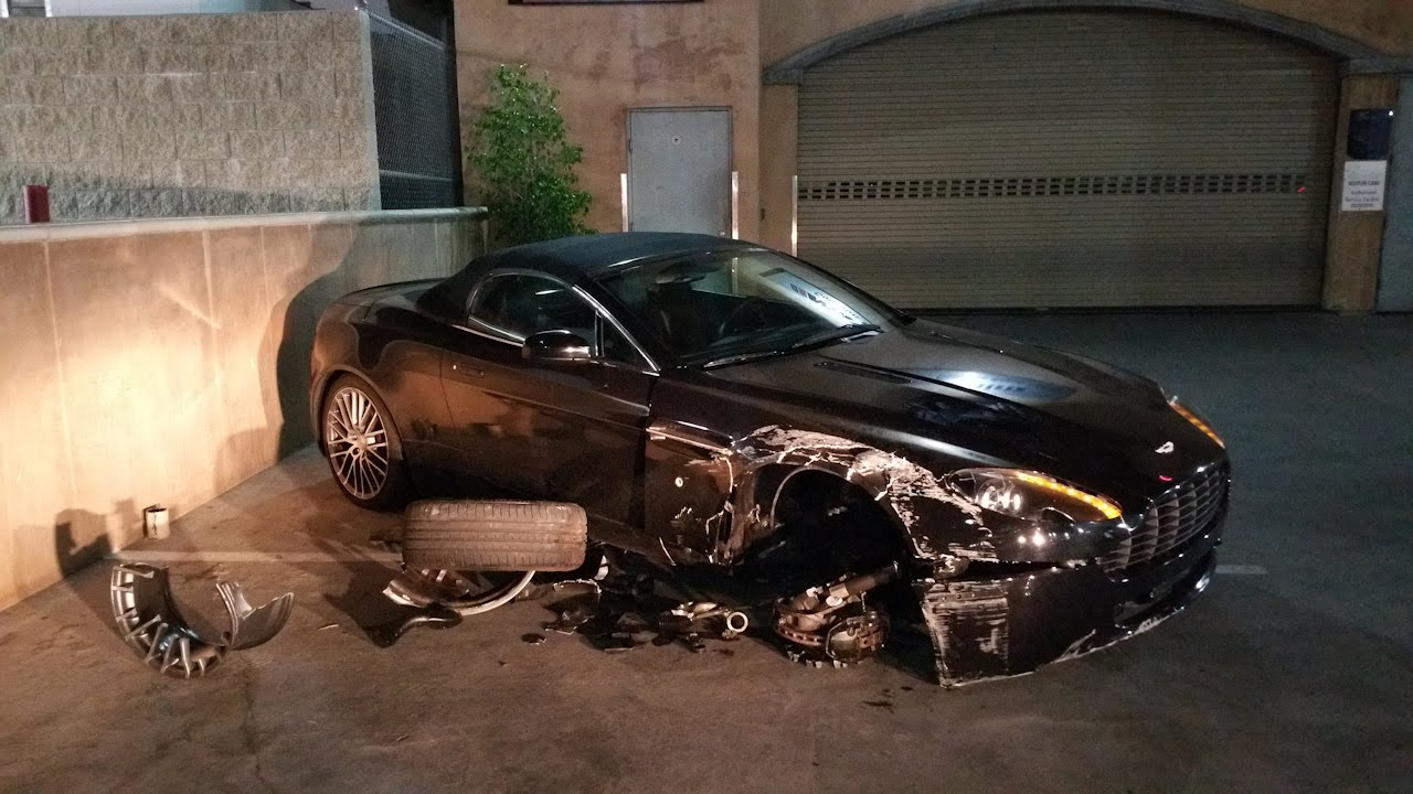Abandoned Wrecked Aston Martin Vantage Youtube