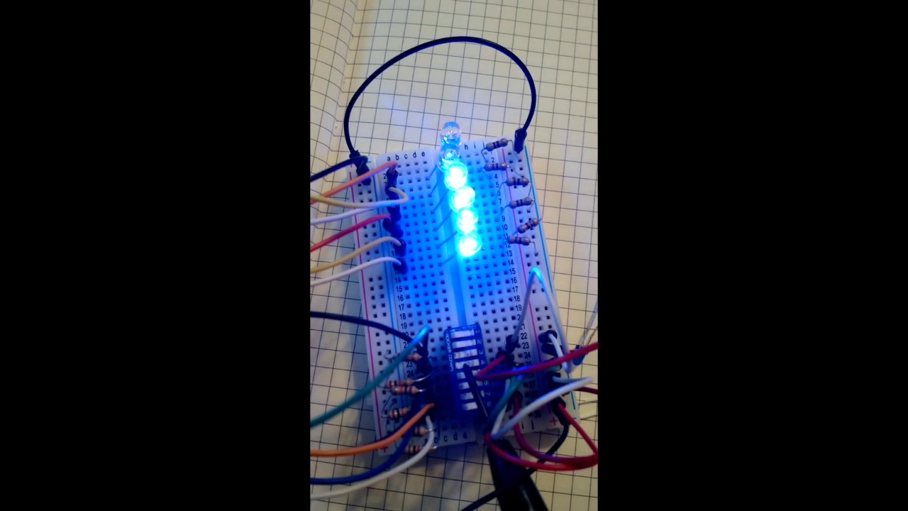 dip switch controlling leds using arduino [ 1280 x 720 Pixel ]