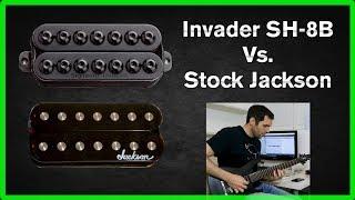 Invader SH-8B vs Stock Jackson - Bridge pickup comparison