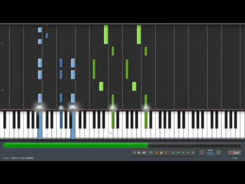 Davy Jones - Piano Tutorial (100% Speed) Synthesia + Sheet Music
