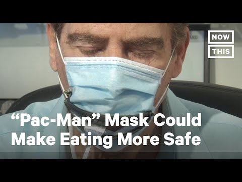 """Pac-Man"" Coronavirus Masks Could Make Dining Out More Safe 