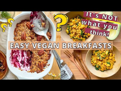 NOT Oatmeal, No Tofu Scramble, or Smoothies! ☀️ VEGAN BREAKFAST IDEAS