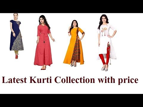 Latest Collection Of Kurtis By Amazon India Less Price | Latest Kurti Design 2018 Reasonable Price