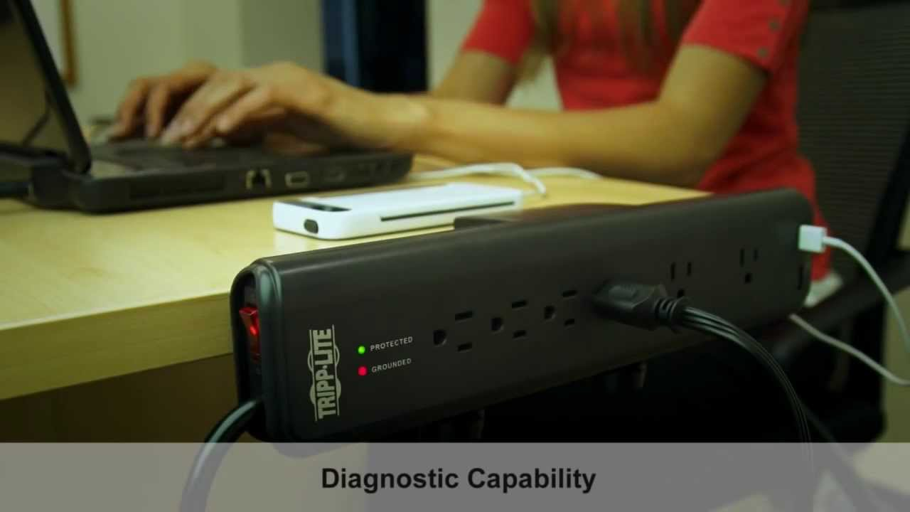 Tripp Lite Surge Protector With Clamps Usb Ports Tlp606dmusb