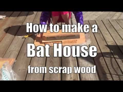 How to make a bat house from scrap wood part 1 youtube for How to make a bat house free