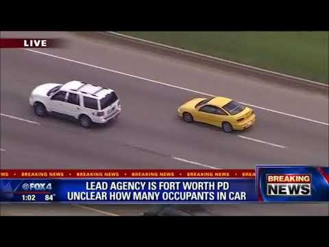 Fort Worth police chase stolen car with a suprizing arrest