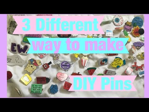3 Different Ways to Make DIY pins without plastic
