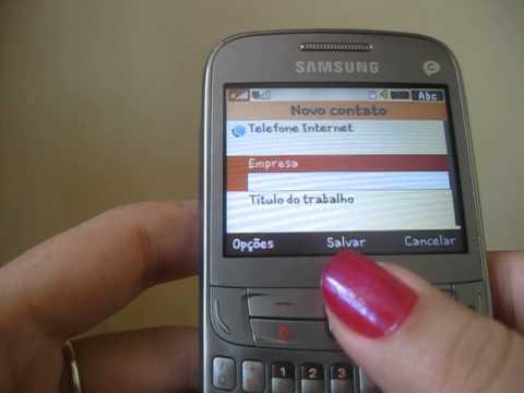 Samsung Ch@t 357 - Colocando contato na tela inicial 2