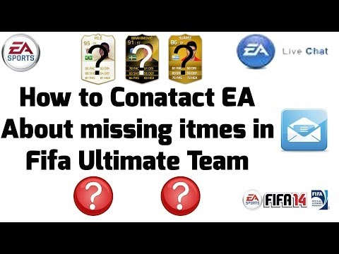 How To Contact EA About Lost Or Hacked Items Or Coins In Fifa Ultimate Team!