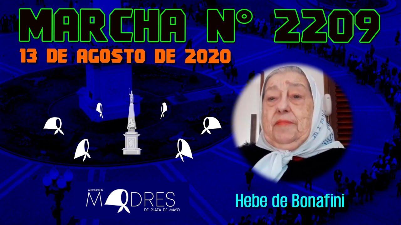 Marcha N° 2209 13 08 20   Hebe de Bonafini   Madres de Plaza de Mayo