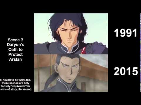 The Heroic Legend of Arslan (Arslan Senki) - 1991 vs 2015 (Side by Side Comparison)