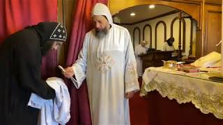 HG Bishop Youssef: Divine Liturgy w/HG Bishop Basil @ St Mary & St Moses Abbey, TX ~ 04/02/2020