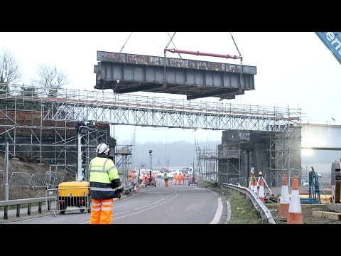 Barfords Bridge replaced as Kettering to Corby upgrade progresses