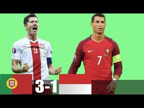 RÉSUMÉ & GOLES Portugal vs Poland 3 -1   Extended Highlights
