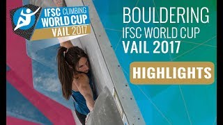 IFSC Climbing World Cup Vail 2017 - Finals Highlights thumbnail