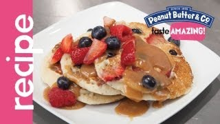 Mixed Berry Pancakes With Peanut Butter Milk Jam Recipe