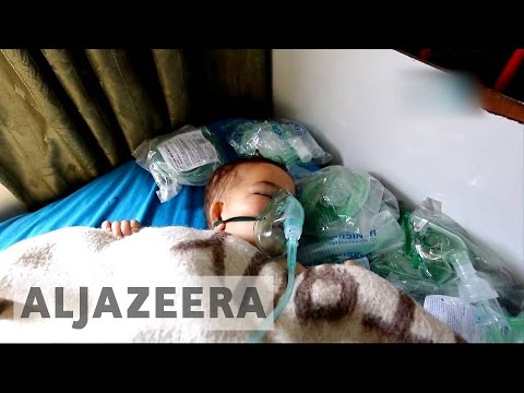 Idlib hospitals overwhelmed after suspected gas attack