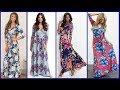 Casual women Beach Dresses 2018  - Floral Printed Women Long Maxi Dresses -  Summer Dress For Women