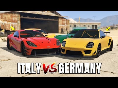 GTA V Online: ITALY SPORT CARS VS GERMANY SPORT CARS (WHICH IS FASTEST?)