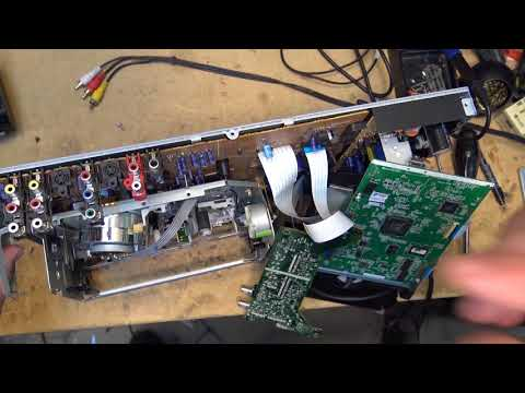 Toshiba DVD recorder VCR tear down