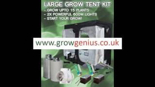 Led and Hps Grow tent kits(Grow tent kits from Growgenius.co.uk ranging from basic led kits all the way to 20 plant hps kits., 2016-04-16T12:49:40.000Z)