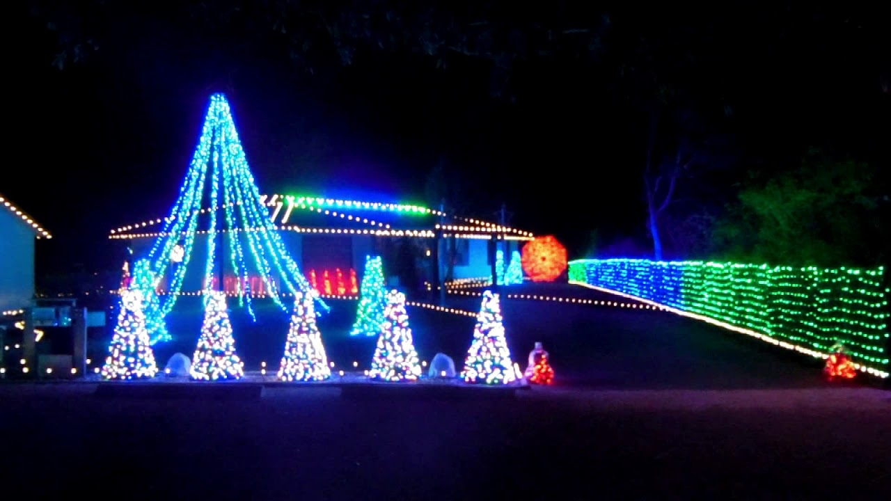 2017 - Over The Top Christmas Lights - Play That Funky Music - YouTube