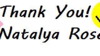 Thank You to Natalya Rose
