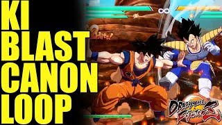How to Properly Perform Base Goku's Ki Blast Cannon Loop (Tutorial) In Dragon Ball FighterZ