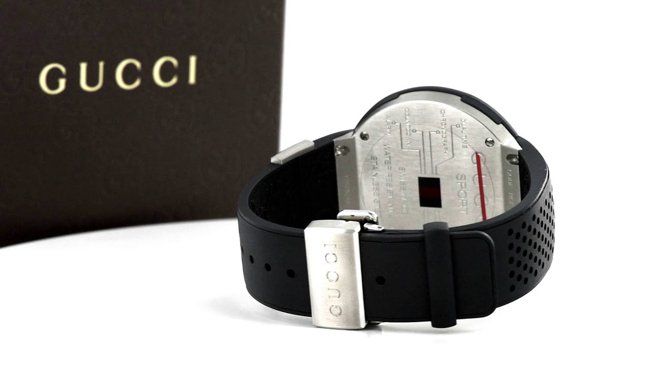 141ab274f8d Mens Diamond Gucci Watch YA114103 Digital Display 3.00 Carats Rubber Band  49 MM
