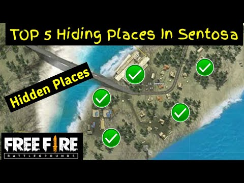 """""""Sentosa Area""""TOP 5 Hidden Places In Free Fire 2020 