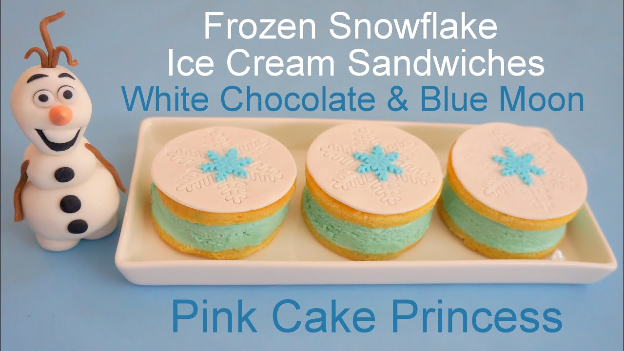 Frozen Ice Cream Sandwiches White Chocolate Blue Moon Ice Cream