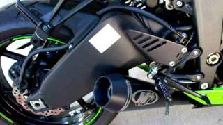 2011 Ninja ZX6R M4 GP slip on exhaust