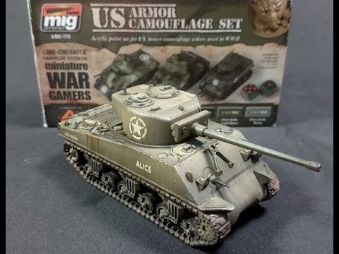 """Painting a """"Rubicon"""" Sherman with """"AMMO"""" colors"""