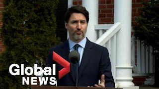 Coronavirus outbreak: Justin Trudeau addresses his wife's COVID-19 diagnosis | FULL