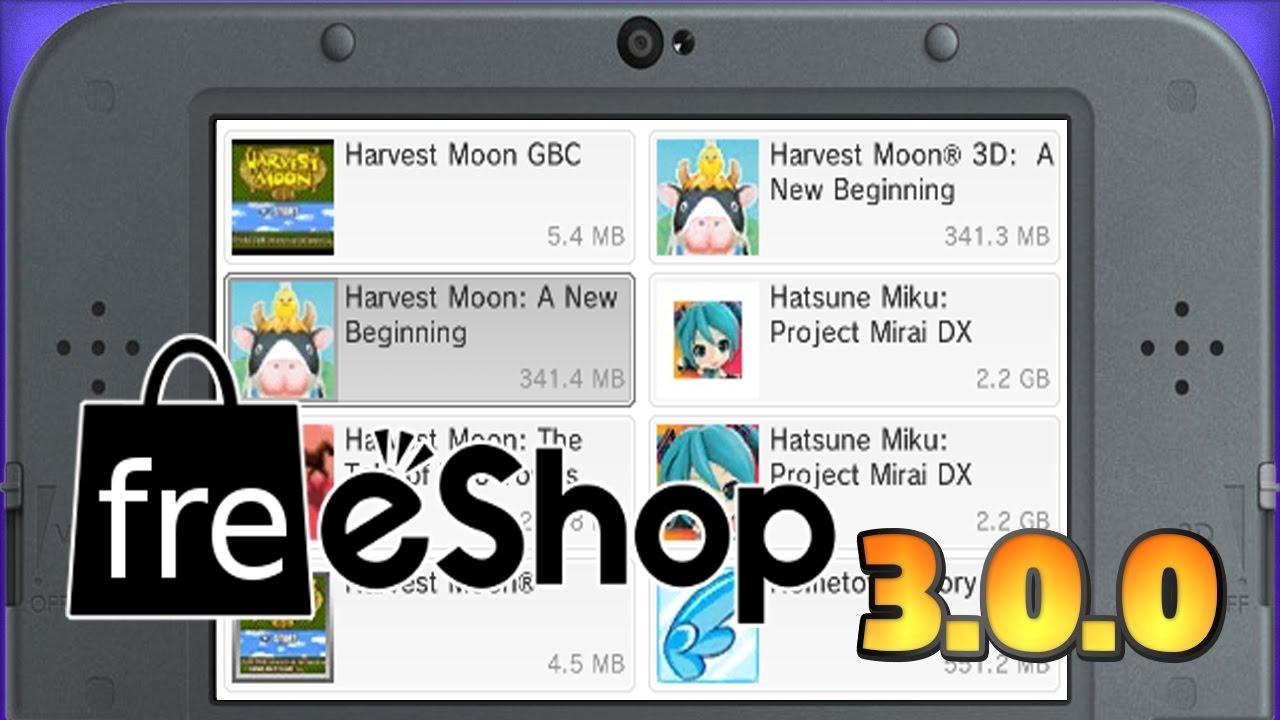 [3DS] Nova freeShop 3 0 0! ATUALIZEM!!!