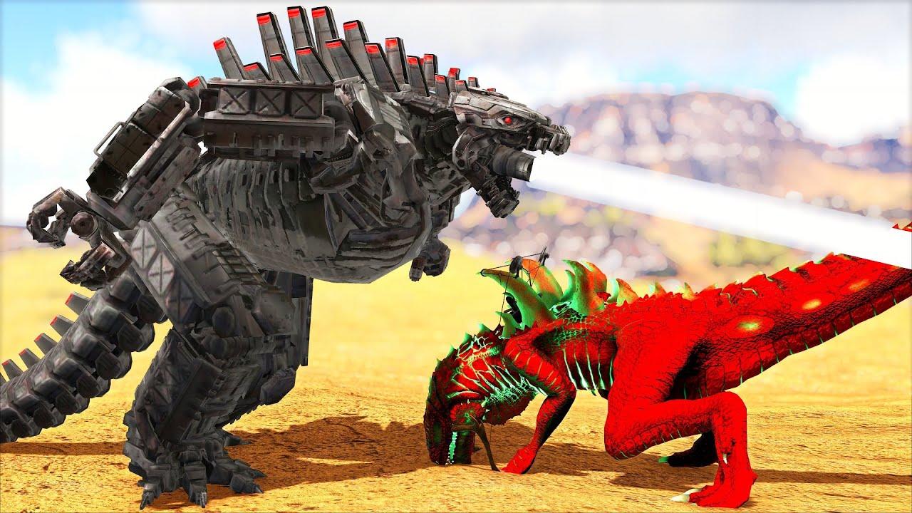 O Bebê Mecha Godzilla Traiu Seus Servos P/ Evoluir e Se VINGAR do Godzilla Rejeitado! Ark Dinossauro