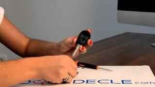 Télécommande coque de clé 2 boutons BMW E36, E38, E39, Z3, Serie 3/5/7