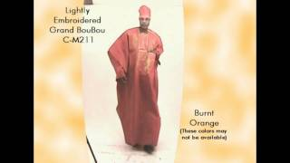 Embroidered Grand BouBou | Africa Imports