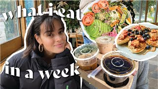 WHAT I EAT IN A WEEK // as a busy college student