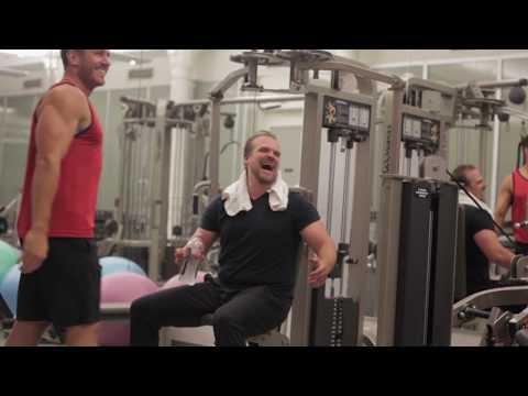 Don Saladino & David Harbour  Hellboy Training