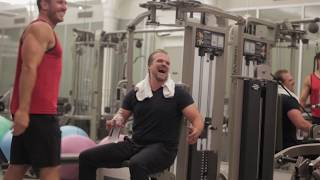 Don Saladino & David Harbour - Hellboy Training