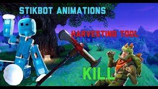 Stikbot Animaciones herramienta de recolección matar #fortnite