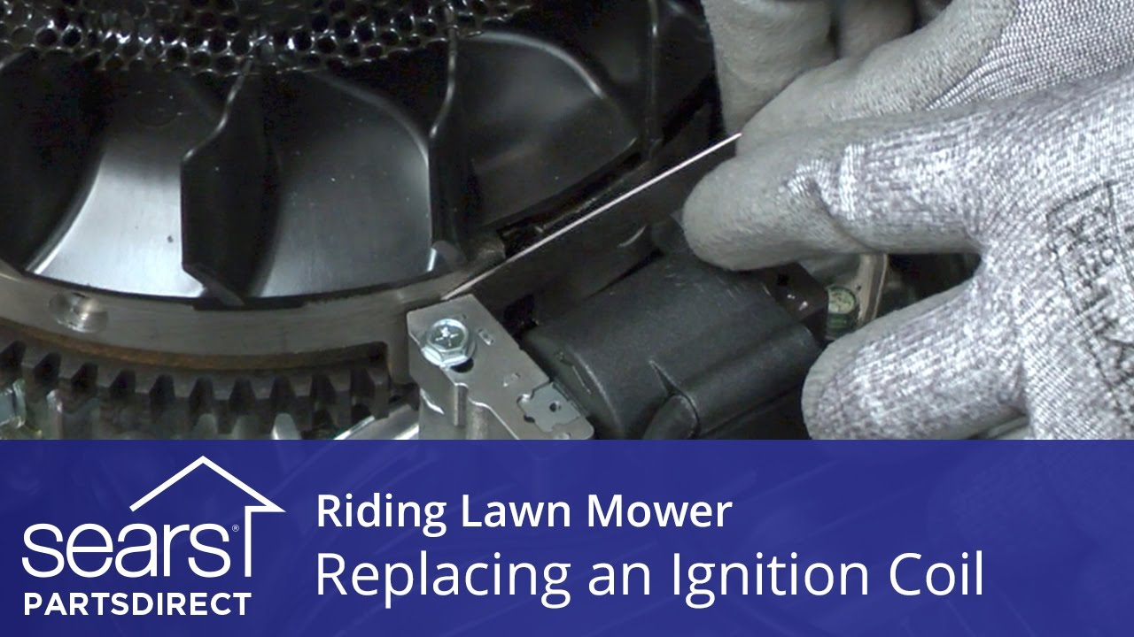 medium resolution of replacing an ignition coil on a riding lawn mower