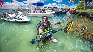 I Found GOLD Metal Detecting Major PARTY Sandbar!!! (underwater) | Jiggin' With Jordan