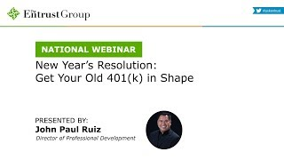 New Year's Resolution: Get Your Old 401(k) in Shape - Video Image